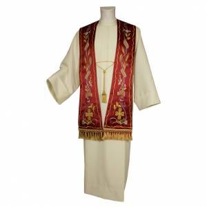Étoles liturgiques: Étole gotique en tissu 100% pure soie naturelle