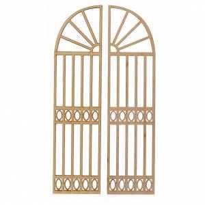 Türen, Geländer: Tor für Krippe 2St. 22x11cm