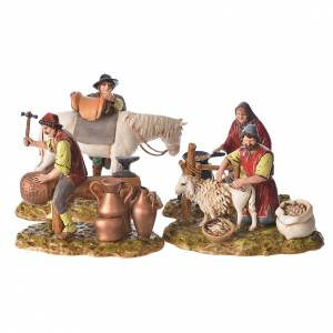 Nativity Scene by Moranduzzo: Trades scene, 4 pcs for nativities of 10cm by Moranduzzo