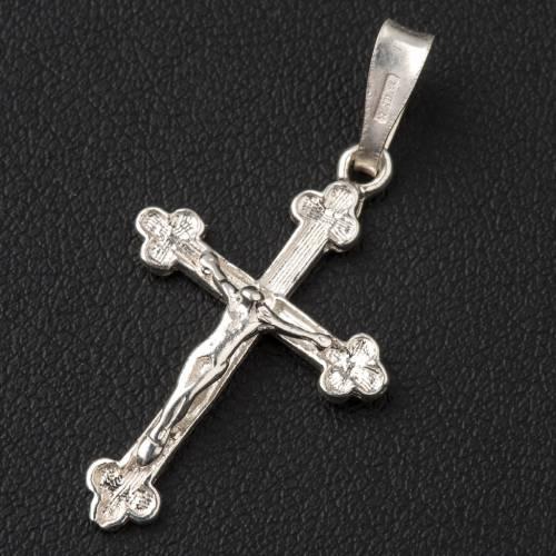 Trefoil cross crucifix in silver 800 s2