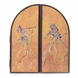 Triptyque à volets Noces de Cana artiste Mario Eremita s2