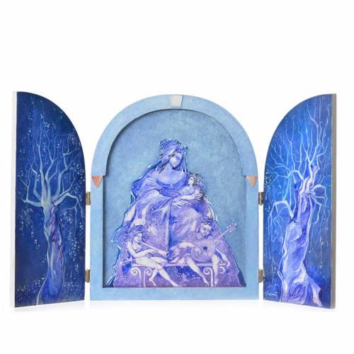 Triptyque à volets Vierge à l'Enfant artiste Mario Eremita s1