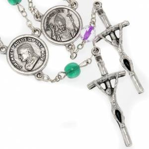 Rosaires de dévotion: Trisagio Idente verre images papes