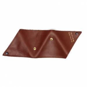 Étui à chapelet triangle cuir brun Jubilé s5