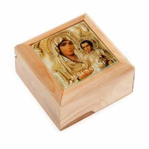 Étuis à chapelets: Étui porte chapelet en bois d'olivier vierge avec en