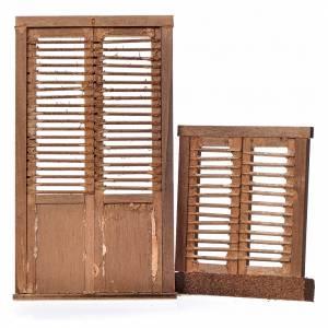 Türen, Geländer: Tür- und Fensterflüger für Krippe aus Holz