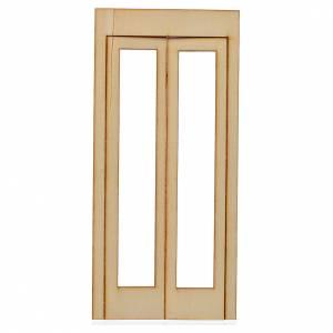 Türen, Geländer: Türflügel für Krippe 19x9cm