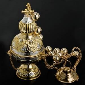 Turibolo stile ortodosso oro argento s5