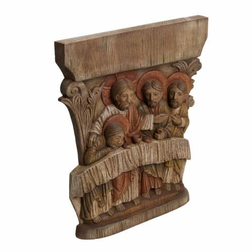 Ultima Cena 40 cm legno bassorilievo Bethléem s2