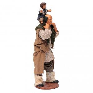 Uomo con bimbo sulle spalle 14 cm s8