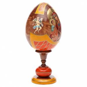 Uovo legno découpage Russia Tre Mani tot h 20 cm stile Fabergè s4