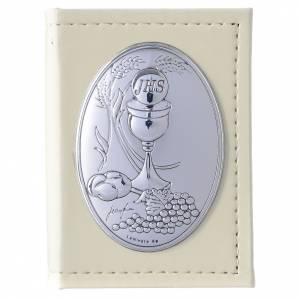Vangelo Prima Comunione in similpelle e placca argento s1