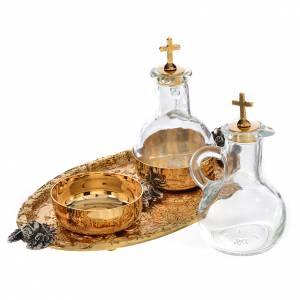 Vassoio ampolline acqua e vino fusione di ottone s3