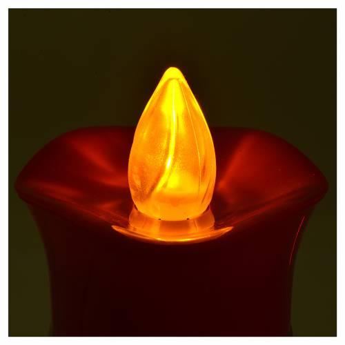 Veilleuse Lumada image Christ blanc flamme jaune tremblante s4
