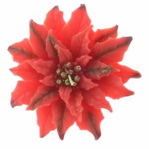Vela flor de Navidad roja s1