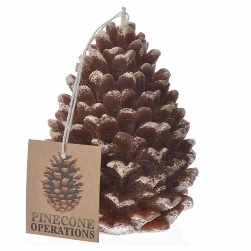 Vela navideña en forma de piña con glitter s1