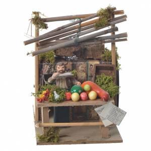 Vendeur de fruits 7 cm mouvement crèche s1
