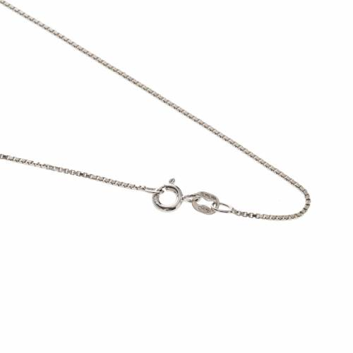 Venetian chain in rhodium-plated sterling silver 60cm s1