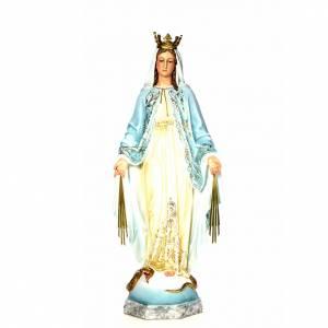 Vergine Miracolosa 120 cm pasta di legno dec. elegante s1