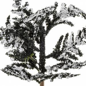 Moos, Stroh und Bäume für Krippe: Verschneiter Baum 15cm groß
