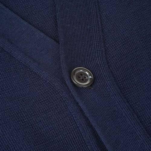 Veste en laine avec boutons,bleu s3