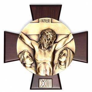 Vía Crucis 14 estaciones latón fundido sobre placa s12