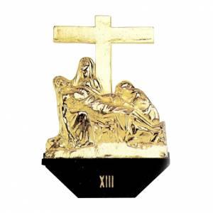 Via Crucis 14 stazioni fusione ottone s1