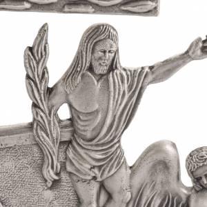 Via Crucis 15 stazioni in bronzo argentato crocetta legno s2