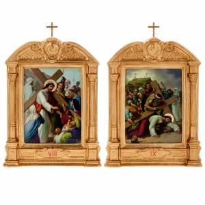 Via Crucis altarini in legno XV stazioni s11