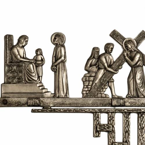 Via Crucis ottone 2 pezzi 14 stazioni s2