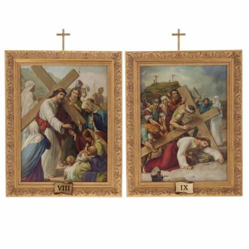 Via Crucis quadri legno tipo pittura 15 stazioni 13