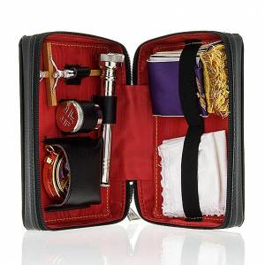 Travel Mass kits: Viaticum and Eucharistic set leather case