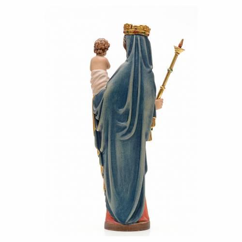 Vierge à l'enfant avec sceptre bois peint 25 cm s3