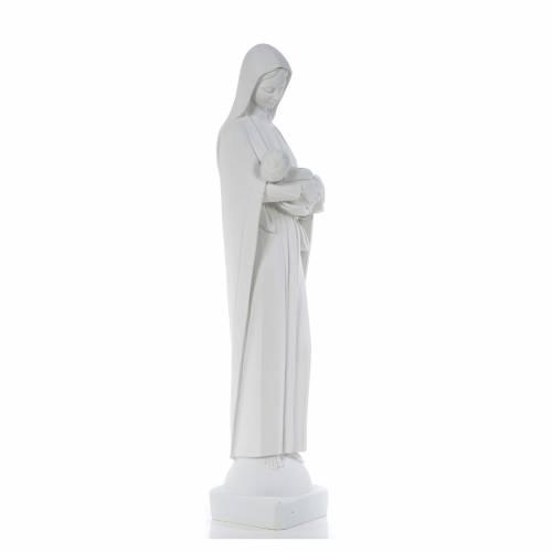 Vierge à l'enfant marbre blanc 80 cm s4