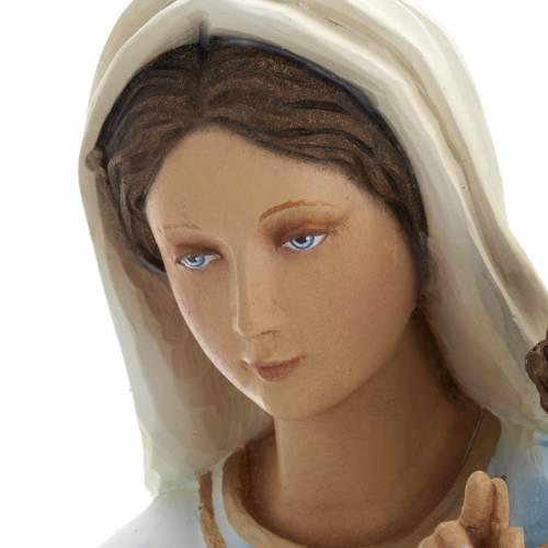 Vierge à l'enfant statue fibre de verre 60 cm s5