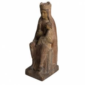 Vierge de Solsona 36 cm bois finition ancienne Bethléem s3