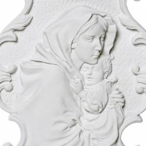 Articles funéraires: Vierge du Ferruzzi 31 cm bas relief poudre de marbre