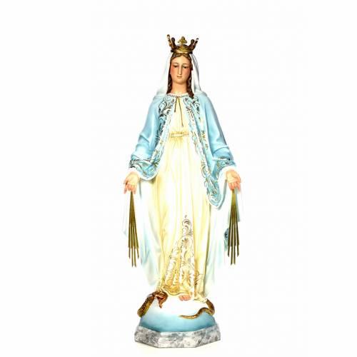 Vierge Miraculeuse 120 cm pâte bois élégante s1