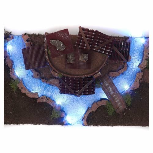 Villaggio con fiume luminoso 18X55X24 cm s6