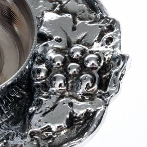 Vinajeras Metal: Vinajeras bronce plateado con uva