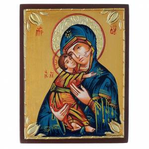 Icónos Pintados Rumania: Virgen de Vladimir media