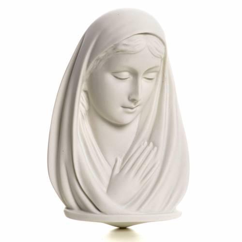 Virgen Rostro cm 13 mármol sintético s1