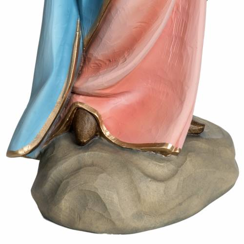Virgin Mary and Baby statue, 60cm in painted reconstituted marbl s6