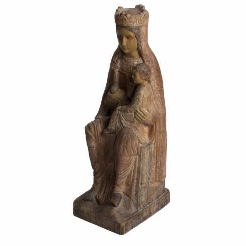 Virgin of Solsona statue in painted Bethléem wood, antique fini s3