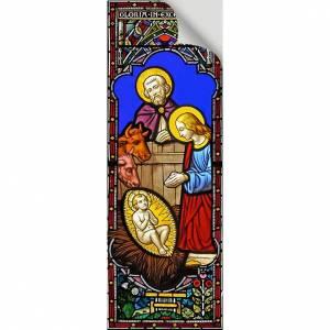 Vitrauphanie: Vitrophanie Nativité, 10.5x30 cm