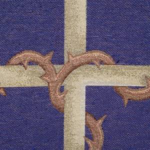 Voiles de lutrin: Voile d'ambon croix or, fond violet