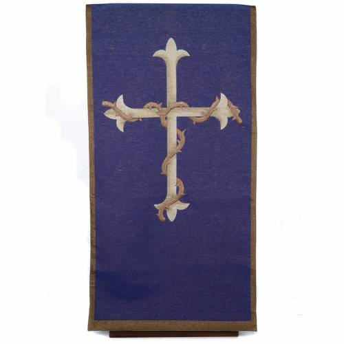 Voile d'ambon croix or, fond violet s1