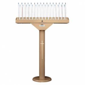 Votivo elettronico a 31 candele lampadine 12 V e trasformatore s1