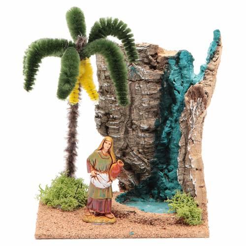 Voyageur dans un oasis 13x10x16 cm pour crèche s1
