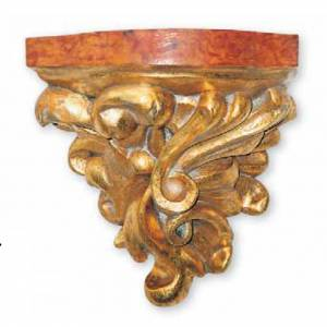 Wall Bracket in wood for statues 21x20x16cm s1
